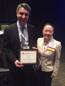 Dr. Esther Kim with 2016 Abstract Award Winner Dr. Chai Ayoub.